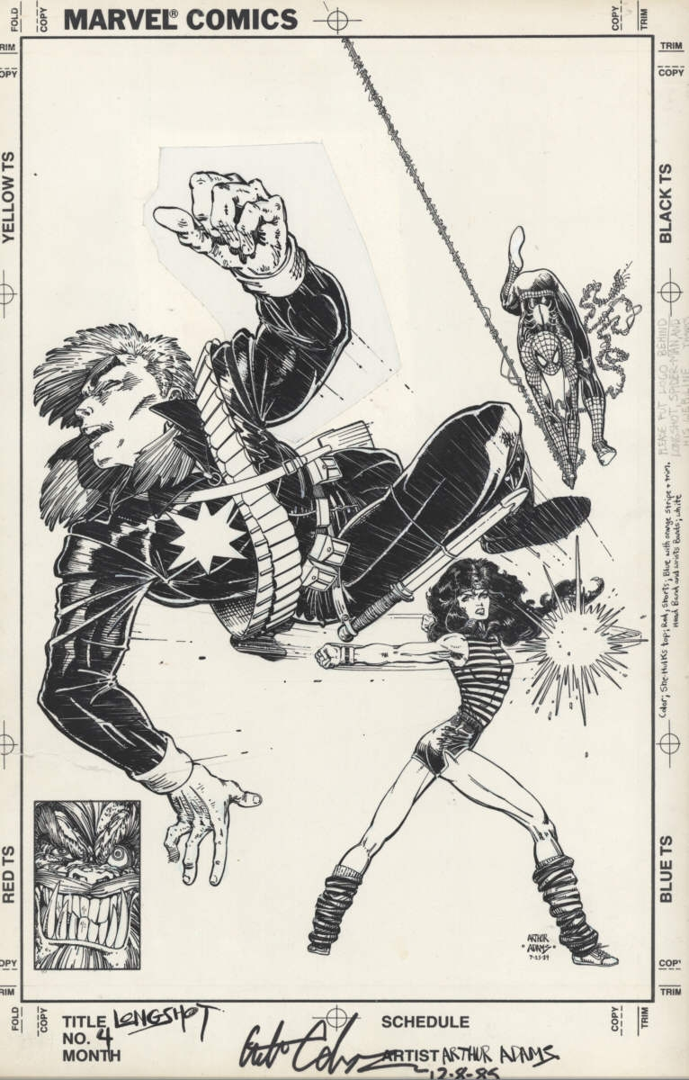 Longshot #4 cover By Art Adams Comic Art